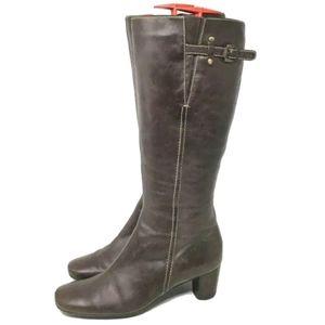 Ecco Heeled Knee Boots Women's Brown 7 - 7.5